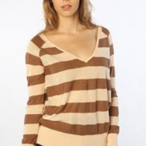 Free People The Rugby Lurex Striped Long Sleeve M